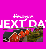 Morgen in Norwegen per overnight Kurier