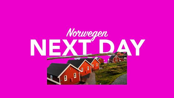 Morgen in Norwegen per overnight Kurier