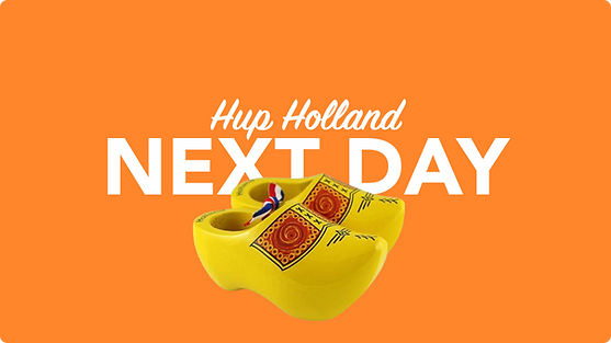 Morgen in Holland per overnight Kurier