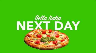 Morgen in Italien per overnight Kurier