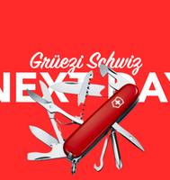 Morgen in der Schweiz per overnight Kurier