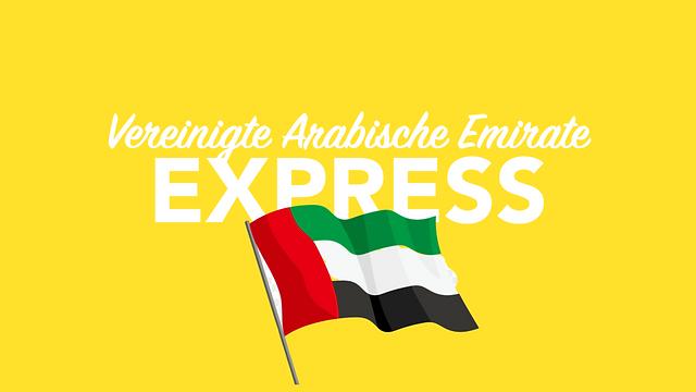 Per Express in die Vereinigten arabischen Emirate versenden