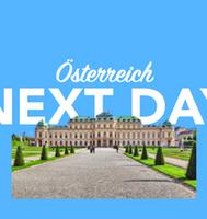 Morgen in Österreich per overnight Kurier