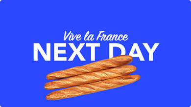 Morgen in Frankreich per overnight Kurier