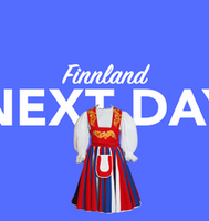 Morgen in Finnland per overnight Kurier