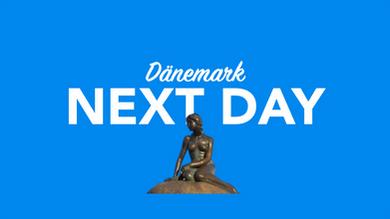 Morgen in Dänemark per overnight Kurier