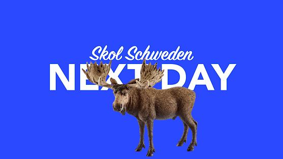 Morgen in Schweden per overnight Kurier