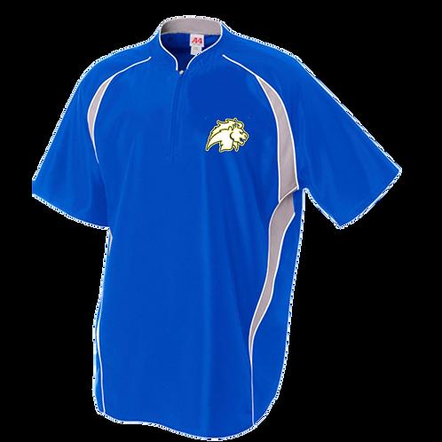 A4 Polyester 1/4 Zip Baseball Batting Jacket