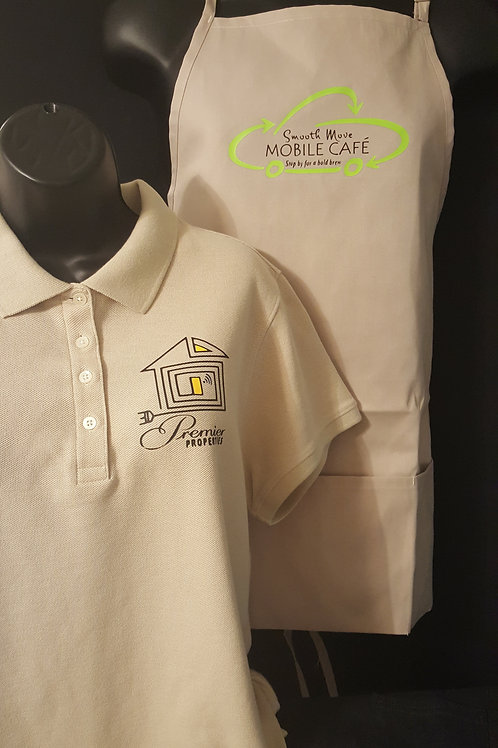Business Polo and Apron