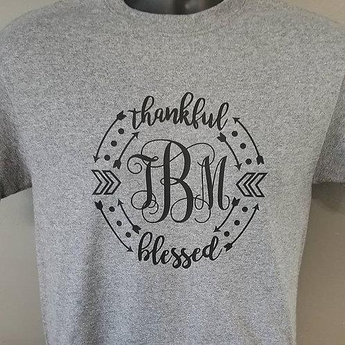 Thankful & Blessed Monograms