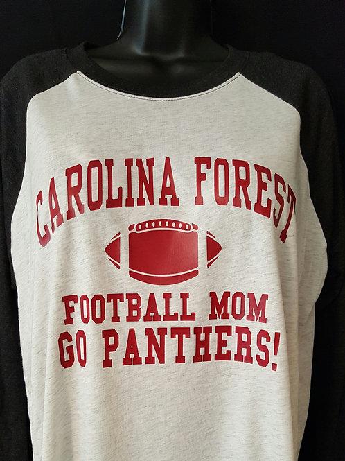 Raglan Style Football Mom