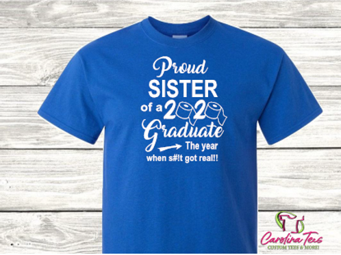 "Proud ""Name"" Grad Senior Tee"