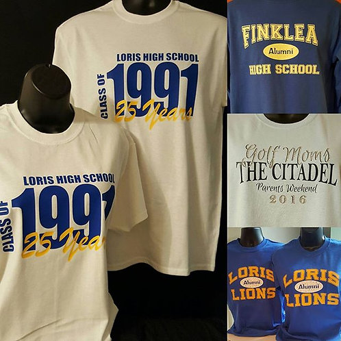 Class of Year Shirts