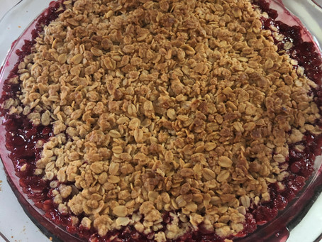 Summer Strawberry-Cherry Crumble