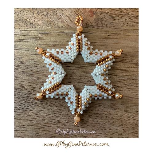 Magen Bronze Cream Christmas Star