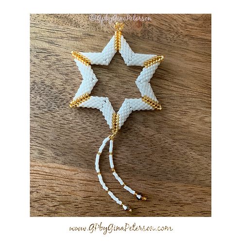 Magen Gold Christmas Star
