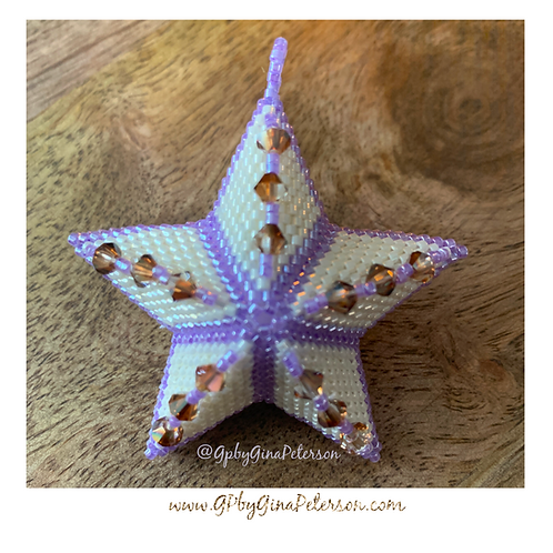 3D Purple Christmas Star