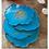 Thumbnail: Gold Leaf Blue Geo Inspired Coaster