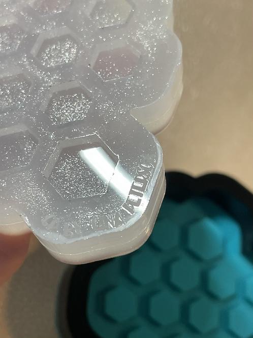 Hexagon combo stud earrings silicone mold
