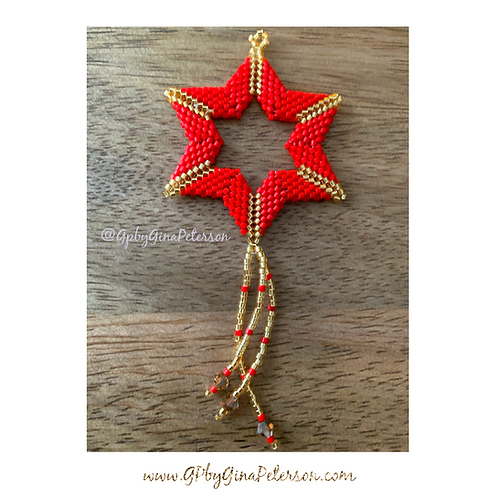 Magen Red Christmas Star