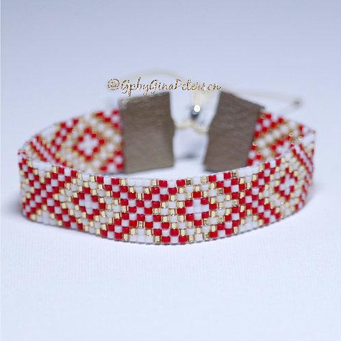 X Red Miyuki Bracelet