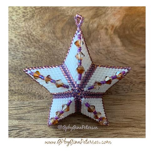 3D Violet Christmas Star