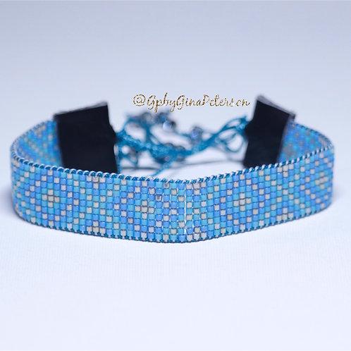 X Blue Miyuki Bracelete