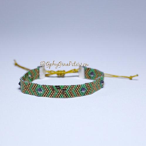 Green X Miyuki Bracelet