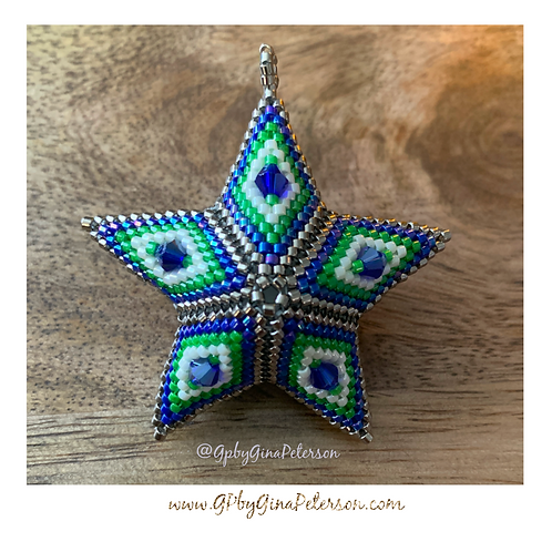 Seahawks 3D Christmas Star
