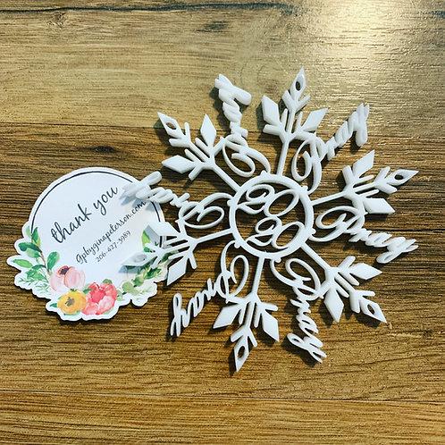 Pray Snowflake Ornament