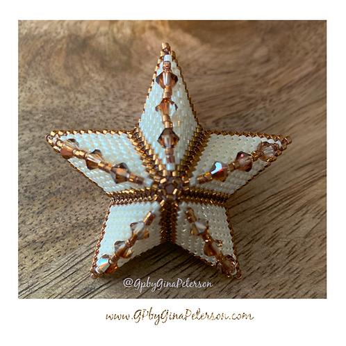 3D Bronze Christmas Star