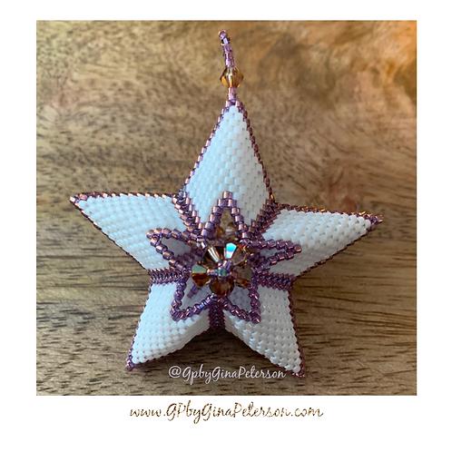 3D Violet Cutout Christmas Star