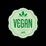 Vegan symbol on organic vegan lip balm for sale page.