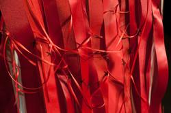Red Ribbon and Bone Dress, Fall 2014