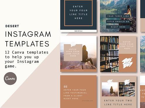 DESERT   Instagram Templates