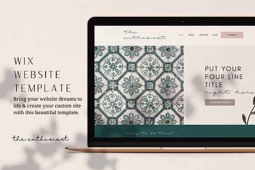THE ENTHUSIAST | Wix Website Template