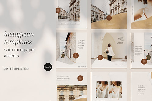INSTAGRAM TEMPLATES | Torn Paper Accents