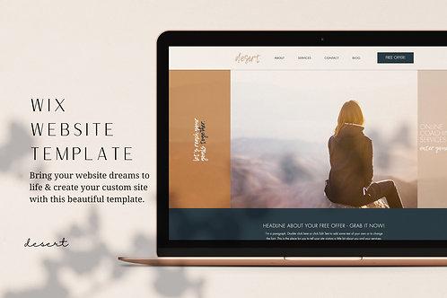DESERT | Wix Website Template