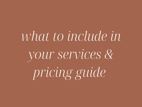 What to Include in Your Services & Pricing Guide for your Online Business