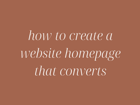 How to Create a Website Homepage that Converts