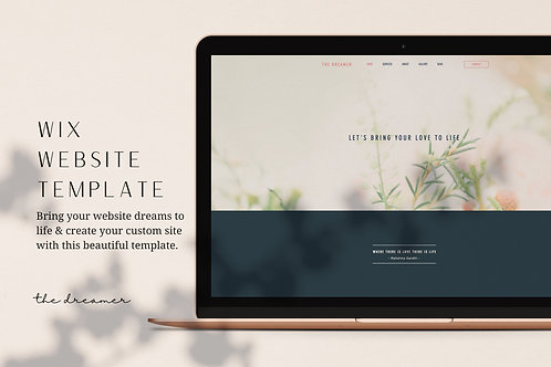 THE DREAMER | Wix Website Template