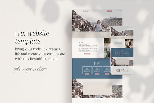 THE NATURALIST | Wix Website Template