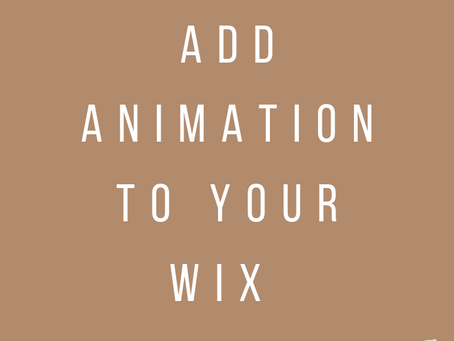 How to Add Animation to Your Wix Website