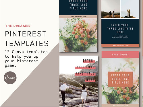 THE DREAMER | Pinterest Templates