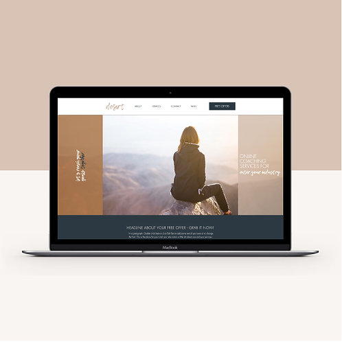 DESERT | Wix Website Template