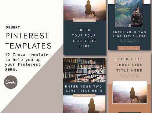 DESERT   Pinterest Templates