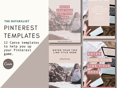 THE NATURALIST | Pinterest Templates
