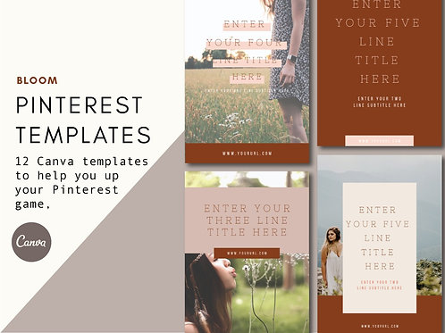 BLOOM | Pinterest Templates