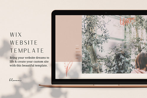 BLOOM | Wix Website Template
