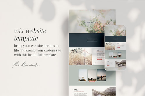 THE DREAMER   Wix Website Template